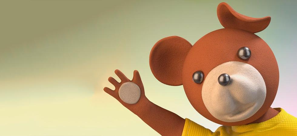 Lodz Bajkowa: Cwirek Sparrow and Mis Uszatek Teddy Bear
